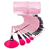 32 Pcs Professional Cosmetic Makeup Brush Set With Pink Bag (Rosy Hair)