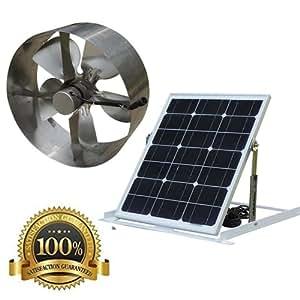 Amazon Com Solar Power Attic Gable Roof Vent Brushless