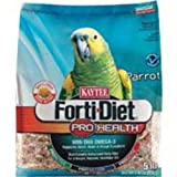 Kaytee Forti Diet Pro Health Food with Safflower for Parrots, 5-Pound Bag