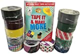 Duct Tape Craft Kit with Book and 12 roll Combo Pack. Tape It & Make More and 12 Rolls of tape