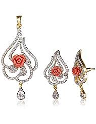 Ava Jewellery Set For Women (Gold) (S-B-CPC1613)