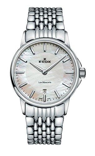 Mujer-reloj EDOX LES BEMONTS - Ultra SLIMM Swiss movement analógico de cuarzo de acero inoxidable 57001 3 M NAIN