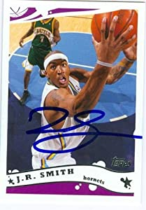J.R. Smith Autographed Hand Signed Basketball Card (New Orleans Hornets) 2005 Topps...
