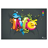 PICKYPOMP Life Wall Poster Art - Laminated Unframed 8x12 Inch