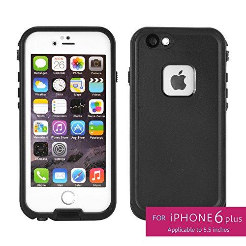 スペックコンピュータ WATER PROOF CASE for iPhone6plus iPhone6splus 防水ケース 防塵 防雪 耐衝撃 IP68 Touch ID 指紋認証 ホワイト SP1904