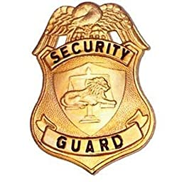 HWC SECURITY SPECIAL PRIVATE GUARD OFFICER BADGE SHIELD IDENTIFICATION GOLD FINISH 2-1/2\