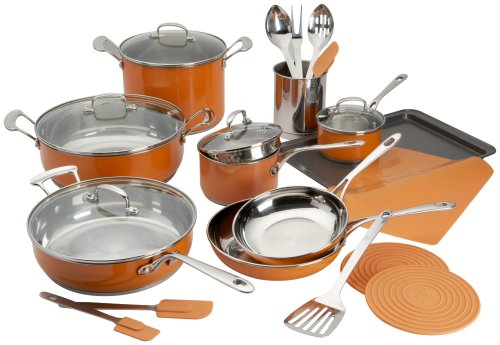 Buy Roy Yamaguchi 24 Piece Cookware Set, Orange
