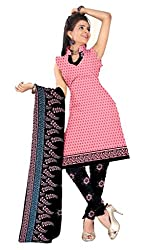 Fashions World Pink Crepe Dress Material