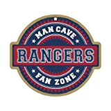 Texas Rangers Man Cave Fan Zone Wood Sign