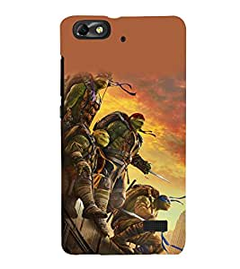 printtech Ninja Tortoise Fighters Back Case Cover for Huawei Honor 4C