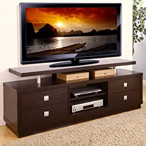 Balta Espresso Finish Multi Storage TV Stand