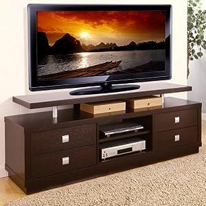 Balta Espresso Finish Multi Storage TV Stand