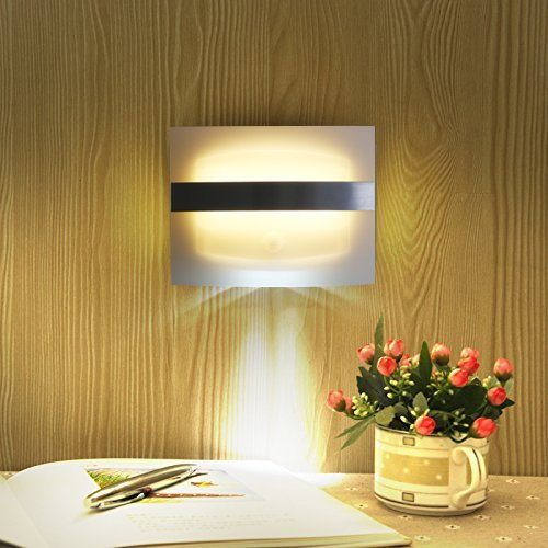 Wall Sconce Night Light : Night Light Bright Motion Sensor Activated LED Wall Sconce Pathway Stair Garden eBay
