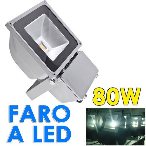FARO FARETTO A LED 100W PER ESTERNO ALTA LUMINOSITA u0026#39; ILLUMINAZIONE -> Lampadario Led Alta Luminosità