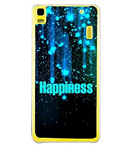 Happiness 2D Hard Polycarbonate Designer Back Case Cover for Lenovo K3 Note :: Lenovo A7000 Turbo