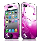 Xtra-Funky Exclusive Swirling Heart Design Fashionable High Quality Protective Decal Skin Cover Vinyl Sticker For Apple iPhone 4 & 4S (iPhone 4 - 4S, Pink Swirls & Hearts)by Xtra-Funky