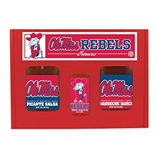 MISSISSIPPI (Ole Miss) Rebels TailGate Hot Sauce BBQ Salsa