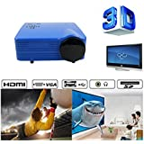 Portable Mini Projector LCD LED Portable HD Home Theater (200 Lumens, 648— 480, VGA HDMI AV USB SD Manual Focus... - B01ESK5QZG