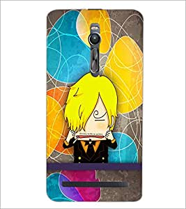 PrintDhaba Cartoon D-3339 Back Case Cover for ASUS ZENFONE 2 (Multi-Coloured)