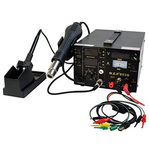 Buy Cheap Comie 853D SMD 3in1 DC Power Supply Soldering Station Hot Air Iron Gun Rework Welder Digit...