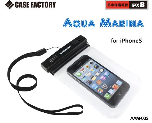 CASE FACTORY by amix 防水ケース AQUA MARINA for iPhone5,GALAXY S4/3,Xperia A,ARROWS X AAM-002 クリア 防水保護等級IPX8ネックストラップ付属