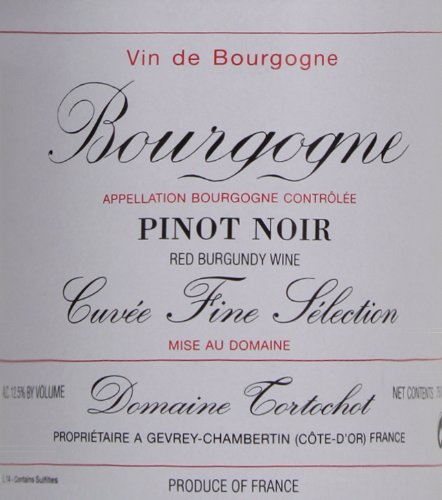 2009 Domaine Tortochot Bourgogne Cuvee Fine Selection Pinot Noir 750 Ml