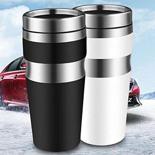 Stainless Steel Water Tea Coffee Flask Vacuum Thermos Cup Travel Insulated Mug (Zojirushi Thermos White compare prices)