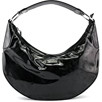 Gucci 257297 Womens Patent Leather Hobo Bag - Black