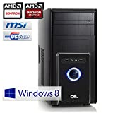 CSL PC Sprint D10014W8 incl. Windows 8.1 - AMD 4x 1300MHz, 4GB RAM, 320GB HDD, Radeon HD 8280, DVD