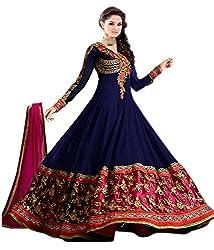 Indian Top Designer Catalog Dress Party Wear Semi Stitched Salwar Suit Sinux Blue