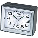 RHYTHM Silent No Ticking Loud Beep Alarm Clock with Snooze & Light Feature
