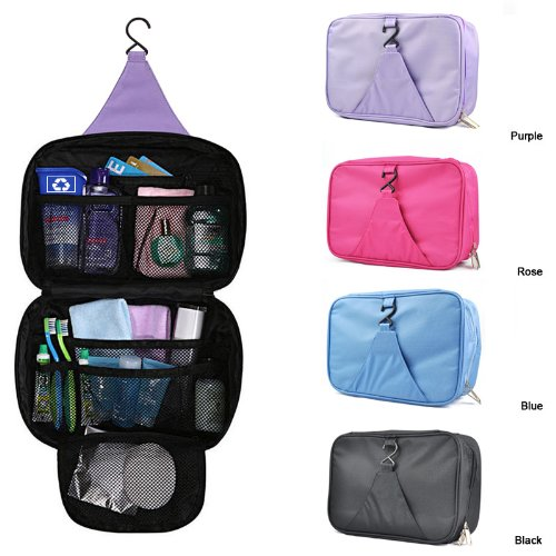 Smallwise Trading Travel Holiday Hanging Wash Make-up Bag Case Organizer Foldable Pouch
