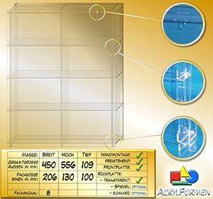 Setzkasten aus Acrylglas für Mineralien SL027 Rückwand Transparent    Kundenbewertung und Beschreibung