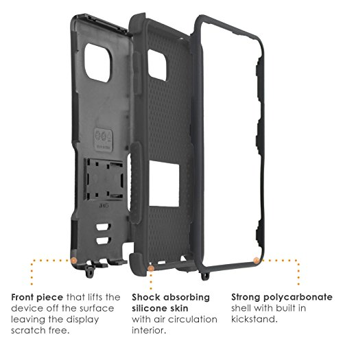 SlickCandy-BlackBlack-Tough-Case-Kick-Stand-Shock-Proof-Hybrid-Combat-Phone-Case-C-for-Samsung-Galaxy-Note-5