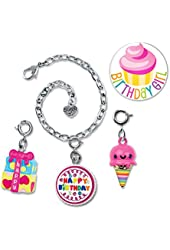 CHARM IT! Cake, Ice Cream and Present Bracelet Set PLUS Birthday Girl Button