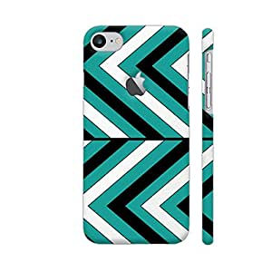 Colorpur Pattern Turquoise 1 Designer Mobile Phone Case Back Cover For Apple iPhone 7 with hole for logo   Artist: LouJah