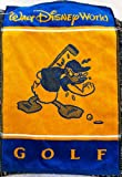Walt Disney World Donald Duck Yellow Blue Golf Towel