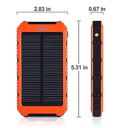 GRDE Solar 10000 mAh Power Bank