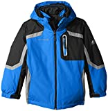Free Country Little Boys' Systems Coat with Puffer Jacket, Electric Blue, Medium/5/6