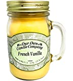 French Vanilla Scented 13 oz Mason Jar Candle - Made in the USA by Our Own Candle Company