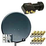 PremiumX Digital SAT Anlage 80 cm ALU Schüssel Spiegel Antenne...