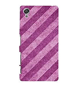 Slant Pattern 3D Hard Polycarbonate Designer Back Case Cover for Sony Xperia X :: Sony Xperia X Dual