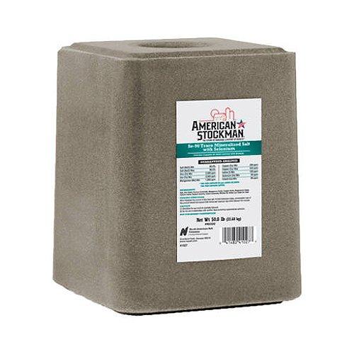 North American Salt 41027S American Stockman Selenium 90 Block Salt Pet Supplement, 50-Pound (Livestock Salt Blocks compare prices)