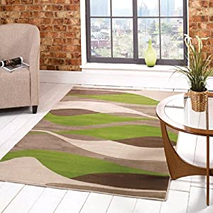Flair Rugs Sincerity Modern Contour Rug, Green, 120 x 170 Cm from Flair Rugs