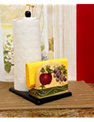 Tuscan Collection Deluxe Hand-Painted Towel and Napkin Holder by ACK