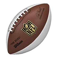 Wilson NFL Autograph Football, Brown White by Wilson