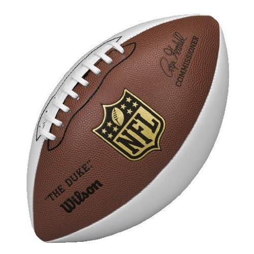 Amazon.com : Wilson NFL Autograph Football, Brown/White