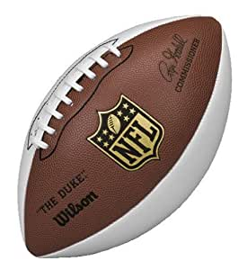 Wilson NFL Autograph Football, Brown/White