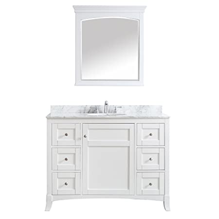 Vinnova 730048-WH-CA Arezzo 48 inch Single Vanity Set with Mirror,,, White