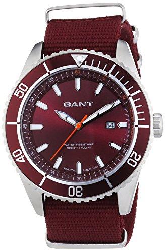GANT SEABROOK MILITARY - Reloj Analógico de Cuarzo para Hombre, correa de Nailon color Rojo